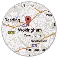 The center of our installation area from Wokingham in Berkshire