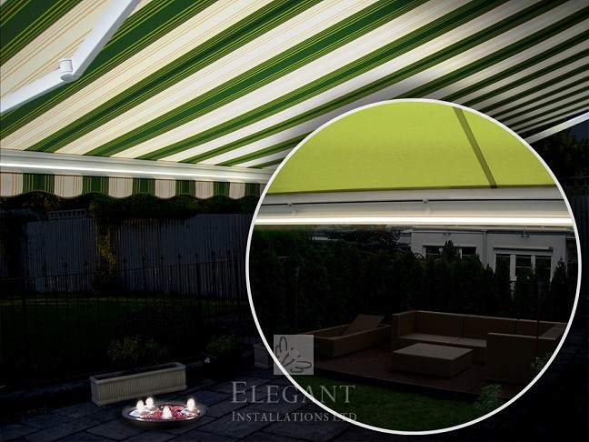 Markiza Ultima awning with lights