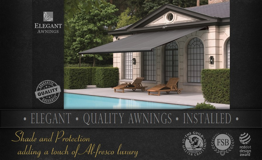 Quality awnings installed by Elegant